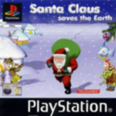santa claus saves the earth telegames sony playstation ps1 retrogaming review rgg retrogamegeeks psx xmas father christmas video games front cover box art