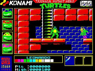 teenage mutant hero turtles ninja cartoon zx zxspectrum spectrum 48k retrogamegeeks.co.uk retro retrogaming rgg videogames retrogames gamers gaming games remembers atari st amiga commodore amstrad cpc 464 c64 computer game