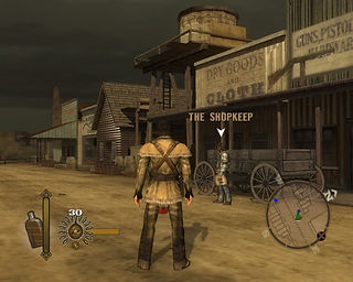 gun 2005 neversoft activision microsoft xbox 360 sony playstation ps2 nintendo gamecube windows pc screenshots rgg game of the month retrogamegeeks wild west retrogaming western colton white thomas jane gaming video game