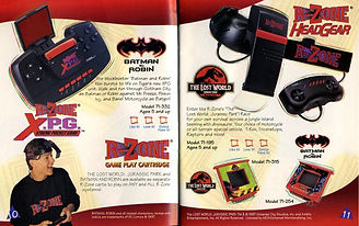 tiger r-zone sega sonic retrogaming rgg retrogamegeeks.co.uk retro collect megadrive genesis gamegear dreamcast saturn sonic jurassic park batman virtual boy google glasses lcd videogames gaming vr virtual reality