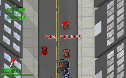 monster finger games super renegade response indie pc ouya ios android retro rgg retrogamegeeks.co.uk retrogaming videogames review screenshot apb driving chase hq guns cops