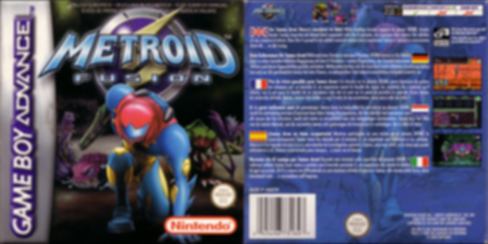 Metroid Fusion nintendo snes nes gamecube gba gameboy advance japan famicom retrogamegeeks.co.uk rgg retrogaming retrogames gaming gamers games videogames box art sci fi samus aran retro game geeks bounty hunter space mother brain