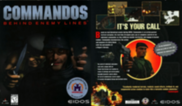 Commandos Behind Enemy Lines eidos rts pc windows rgg retrogamegeeks.co.uk retrogaming videogames retro game geeks games gaming gamers computer ntsc ww2 nazi war guns world war 2 screenshot screenshots review