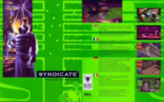 syndicate amiga 500 600 1200 review bullfrog electronic arts pal box shot retrogamegeeks.co.uk rgg retrogaming retrogame retro game geeks videogames gaming gamers games corporations future cyborgs sega megadrive nintendo snes atari st pc dos windows
