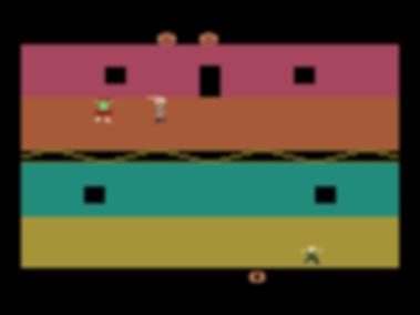 john carpenter halloween atari vcs 2600 wizard video games retrogaming rgg retro game geeks retrogamegeeks.co.uk review sears arcade system original box shot screenshots screenshot review horror movies films michael myers gaming gamers videogames