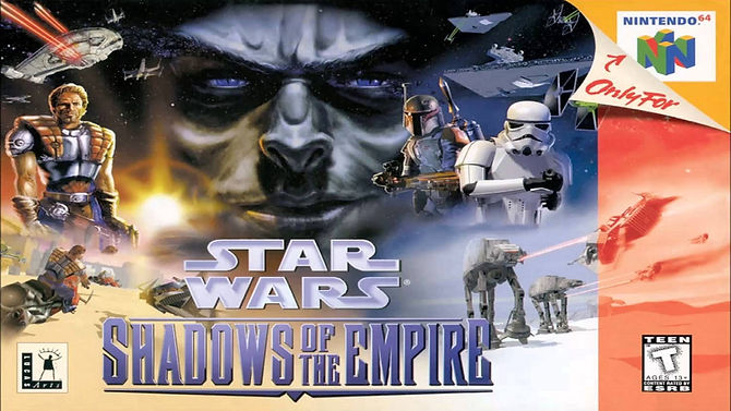 Star Wars Shadows Of The Empire Nintendo 64 N64 rgg retrogamegeeks.co.uk retrogaming videogames gamers gaming games retro game geeks gotm gamer boba fett dash rendar stormtroopers last jedi han solo luke skywalker windows pc princess leia prince xizor