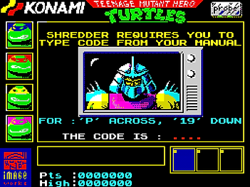 teenage mutant hero turtles ninja cartoon zx zxspectrum spectrum 48k retrogamegeeks.co.uk retro retrogaming rgg videogames retrogames gamers gaming games remembers atari st amiga commodore amstrad cpc 464 c64 computer game