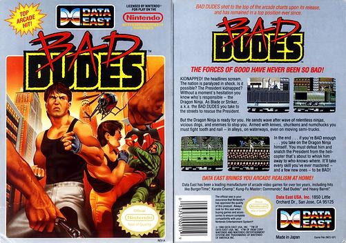 bad dudes vs dragon ninja data east nintendo entertanment system review retrogamegeeks rgg nes ntsc box art