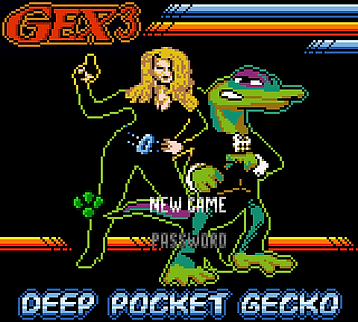 gex 3 deep cover pocket gecko nintendo gameboy game boy Jamalais wii gba gb gbc rgg retrogaming retrogamegeeks.co.uk videogames retrogames gamers gaming games mascot eidos box art screenshots crystal dynamics retro game geeks review