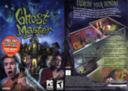 ghost master ghosts scary Halloween windows pc playstation 2 ps2 microsoft xbox retrogaming review rgg retrogamegeeks retrogamegeeks.co.uk horror retro videogame old school gaming games gamers real time strategy cult classic box art cover