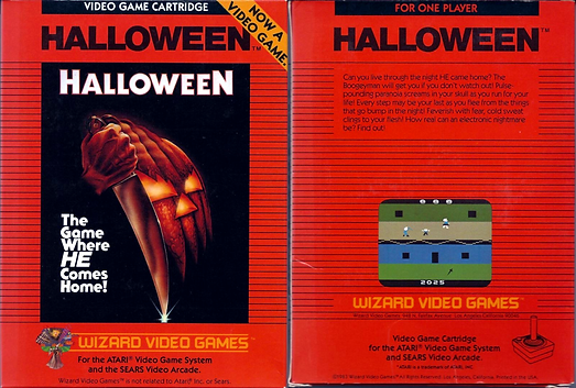 john carpenter halloween atari vcs 2600 wizard video games retrogaming rgg retro game geeks retrogamegeeks.co.uk review sears arcade system original box shot screenshots screenshot review horror movies films michael myers gaming gamers videogames