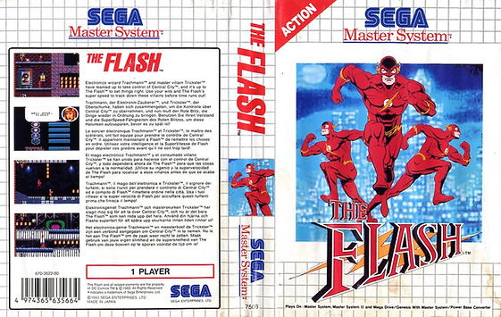 The Flash CBS Sega Master System rgg retrogamegeeks.co.uk retrogaming retro game geeks videogames gaming gamers probe dc comics comic book barry allen trickster superhero superheroes tv show