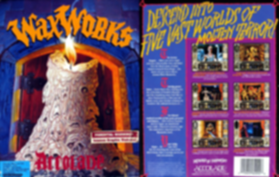 waxworks msdos pc horrorsoft accolade retrogaming review rgg retrogamegeeks amiga dungeon crawler 16-bit horror retro videogame old school gaming cult classic box art cover