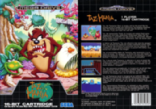 taz-mania sega megadrive genesis review rgg retrogamegeeks.co.uk retrogaming videogames retro game geeks games gamers gaming taz tazmania tasmanian devil tasmania boxart box art shot front back cover smd screenshots screenshot review cartoon wb warner bros