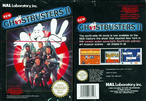 new ghostbusters 2 II fc nes review nintendo entertainment system famicom rgg retrogamegeeks.co.uk retrogaming film movie 8-bit sequel HAL Laboratory gamers gaming games retro game geeks films movies ghosts vigo new york statue of liberty ghouls ray peter