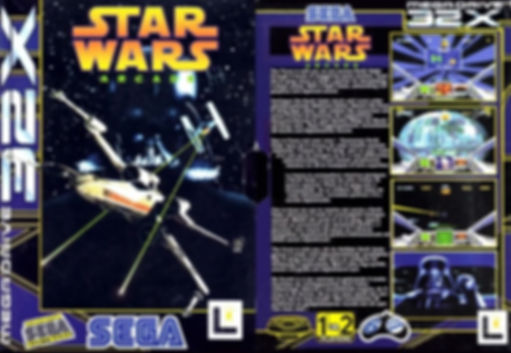 star wars arcade sega 32x megadrive genesis review retrogamegeeks retrogamegeeks.co.uk rgg jedi skywalker rogue one episode ackbar darth vader george lucas lucasarts front cover box art retrogaming retro game geeks videogames gamers gaming games movies