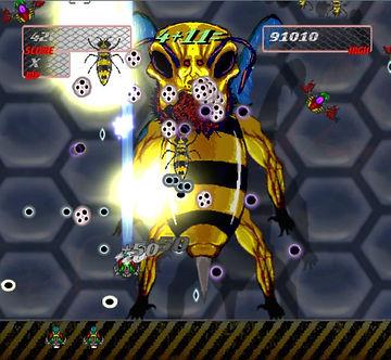 super killer hornet resurrection ouya xbox live indie retro review retrogamegeeks.co.uk flump studios ikaruga