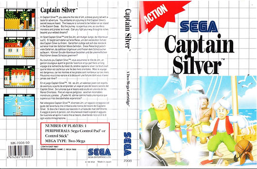 captain silver sega master system review rgg retrogamegeeks.co.uk retrogaming megadrive pirates disney hook jack sparrow gamegear box art gamers videogames gaming