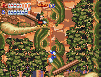 World Of Illusion starring Mickey Mouse and Donald Duck Walt Disney sega megadrive genesis cartoons rgg gotm game of the month retrogamegeeks retrogamegeeks.co.uk retrogaming gaming games gamers video games 90s goofy magic genesis does castle of illusion