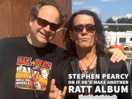 """NO MORE """"ROUND AND ROUND"""" WHEN TALKING ABOUT RATT REUNION...STEPHEN PEARCY LAYS IT DOWN"""