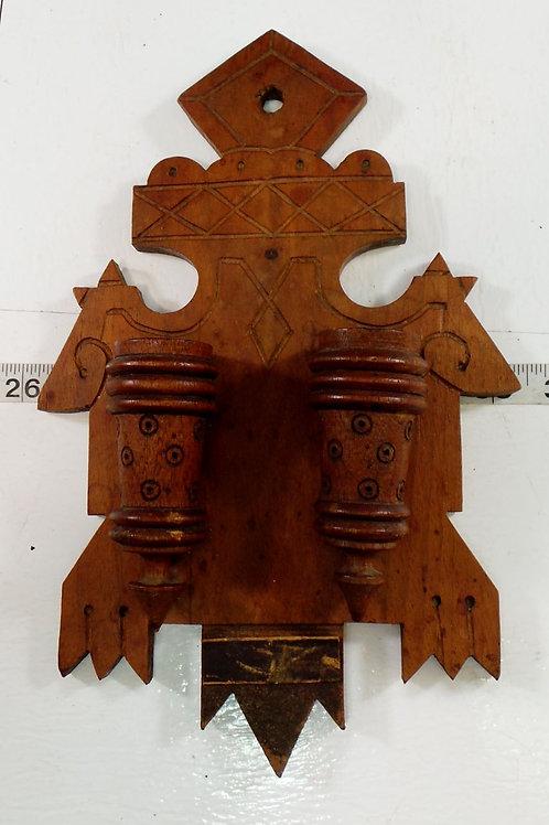 Primitive Wooden Candle Holder