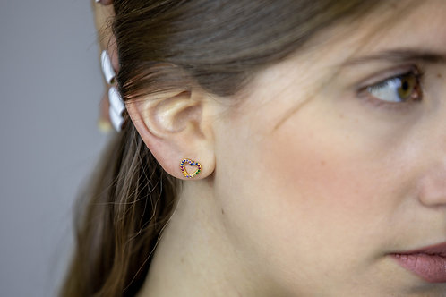 Colorful Heart Earrings
