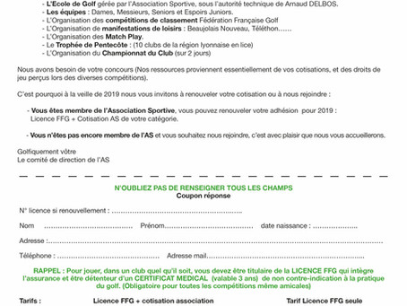 FORMULAIRE / COUPON REPONSE
