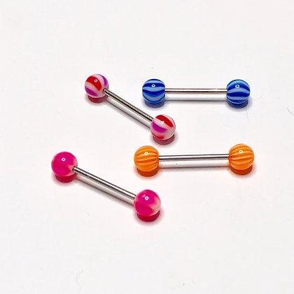 Set of 4 Braid Piercings (Assorted Colors)
