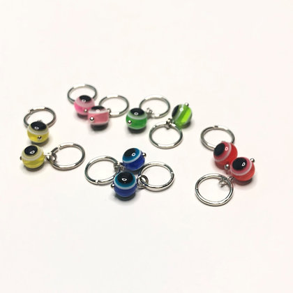 Assorted Color Eyeball Braid Charms (10 pack)