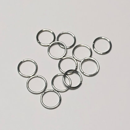Silver Hair Rings Small (set of 12 )
