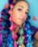 Miami Florida hair braider Marsh of Get Braidified rocking colored hair extensinons