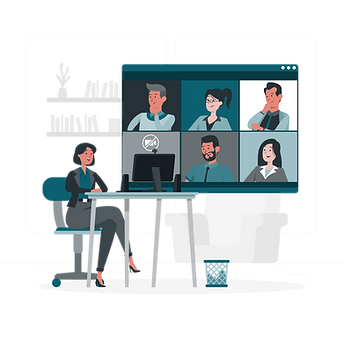 Remote meeting-rafiki.png