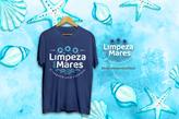 Camiseta Limpeza dos Mares Azul Marinho