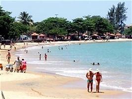 Praia do Centro em frente ao Ostrão