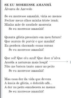 Poesia_-_Se_eu_morresse_amanhã_-_Álvares