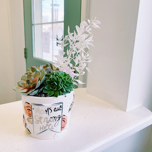 Mothers Day dried floral and succulent arrangement (PRE ORDER)
