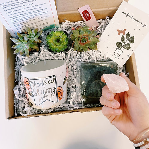 Moms are strong as hell | DIY Succulent Diffuser Gift Box