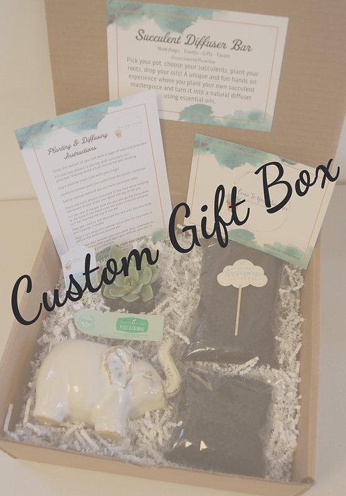 Custom | DIY Succulent Diffuser Gift Box