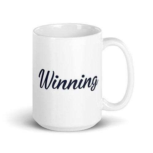 The WIN Project White glossy mug