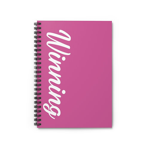 The WIN PROJECT Ruled Line Notebook - Berry
