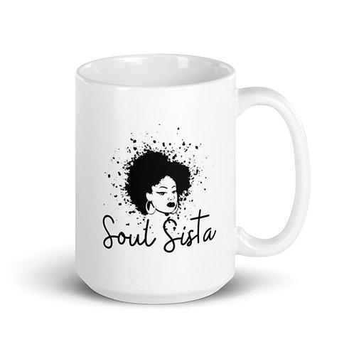 Soul Sista | White glossy mug