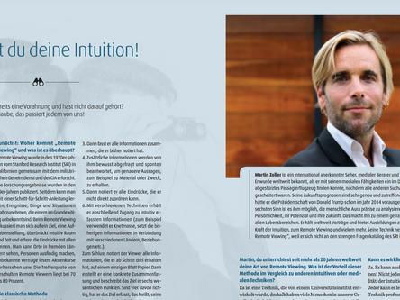 Neues Interview mit mir über Intuition und Remote Viewing