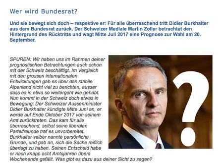 Bundesratswahl 2017 in der Schweiz