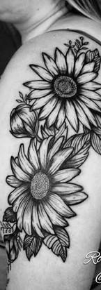 Sunflowers & Peony buds