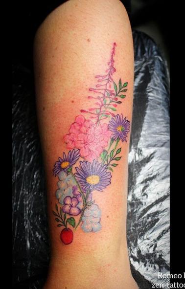 Fire weed & hydrangea flowers