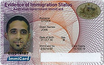 Evidence of Immigration Status ImmiCard.