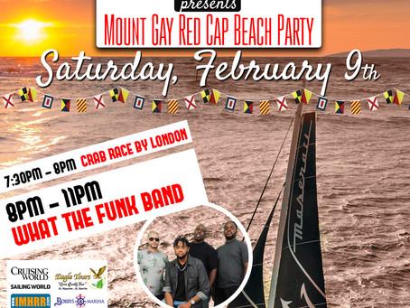 Buccaneer Beach Bar Maarten is hosting the Mount Gay Red Cap Beach Party on Saturday 9 Feb!