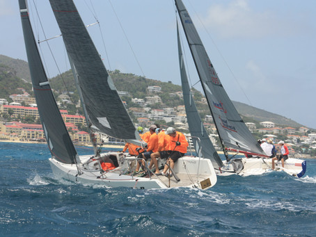 Large percentage of racing sailboats ready to participate in the first Grant Thornton Keelboat race