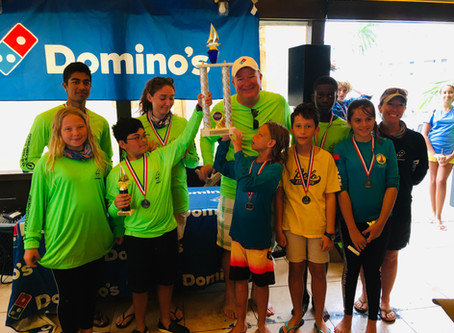 Learning Unlimited overall winner of the 3rd Annual Domino's Interschool Dinghy Sailing Championship