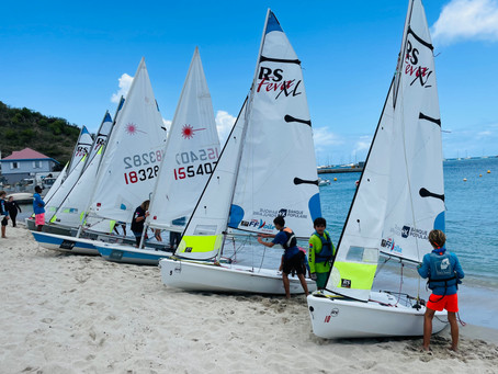 TEAM SXM VISITS YACHT CLUB IN ST BARTHS FOR SAILING RACE.